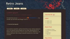 Retro Jeans Blogger Template