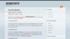 Serenity Blogger Template