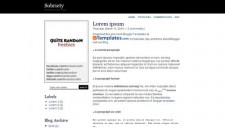 Sobriety Blogger Template