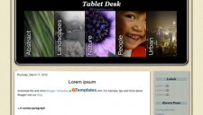 Tablet Desk Blogger Template