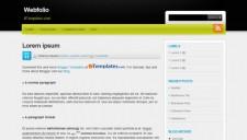 Webfolio Blogger Template