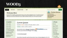 Wood3 Blogger Template