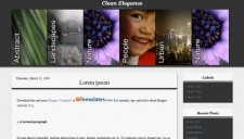 Clean Elegance Blogger Template
