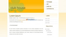 Club House Blogger Template