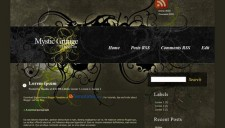 Mystic Grunge Blogger Template