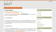 Soley Blogger Template