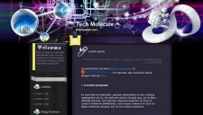 Tech Molecule Blogger Template