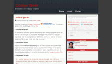 Código Geek 2.0 Blogger Template