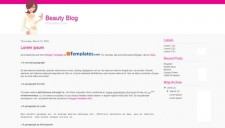 Beauty Blog Blogger Template