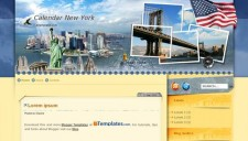 Calendar New York Blogger Template