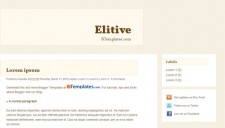 Elitive Blogger Template