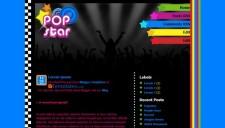 Popstar Blogger Template