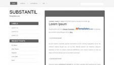 Substantil Blogger Template