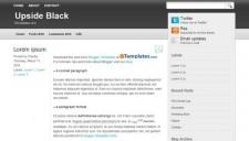 Upside Black Blogger Template