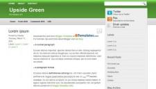 Upside Green Blogger Template