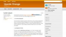 Upside Orange Blogger Template