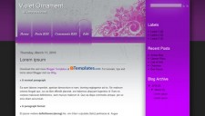 Violet Ornament Blogger Template
