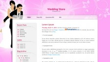 Wedding Store Blogger Template