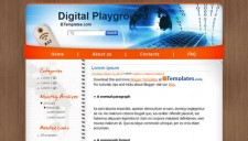 Digital Playground Blogger Template