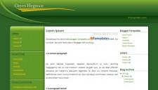 Green Elegance Blogger Template