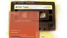 Old Tape Blogger Template
