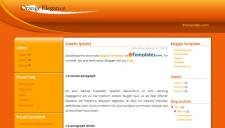 Orange Elegance Blogger Template
