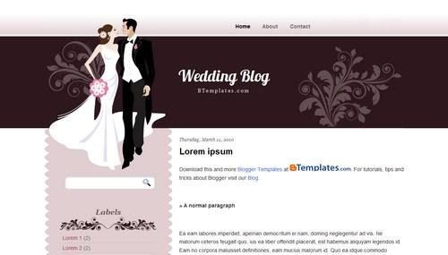 Wedding blog blogger template btemplates junglespirit Choice Image