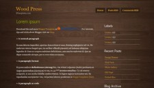 Wood Press Blogger Template
