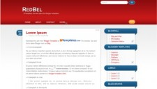 RedBel Blogger Template