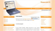 Financial 01 Blogger Template
