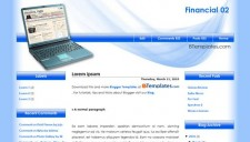 Financial 02 Blogger Template