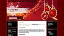 Winter Red Blogger Template