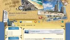 Beach Gold Coast Blogger Template