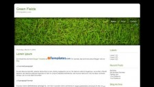 Green Fields Blogger Template