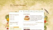 Mis Recetas Secretas Blogger Template