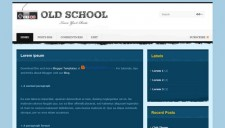 Old School Blogger Template