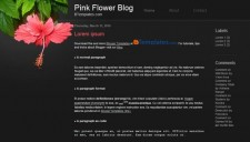 Pink Flower Blogger Template