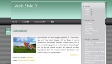 Web Style 01 Blogger Template