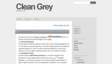 Clean Grey Blogger Template