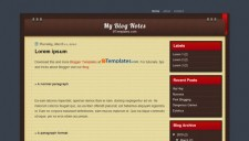 My Blog Notes Blogger Template
