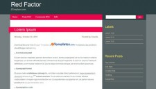 Red Factor Blogger Template
