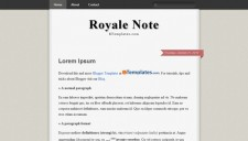 Royale Note Blogger Template