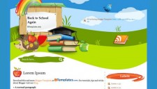 Back to School Again Blogger Template