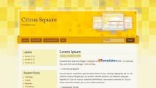 Citrus Square Blogger Template