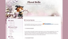 Floral Belle Blogger Template