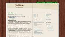 Food Recipe Blogger Template