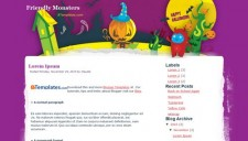 Friendly Monsters Blogger Template
