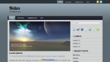Helios Blogger Template