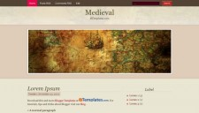 Medieval Blogger Template