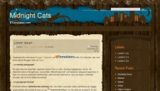 Midnight Cats Blogger Template